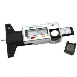 0-25mm LCD Digital Tyre Depth Gauge Caliper Tread Motorbike Car Truck Tester Measurer - Silver