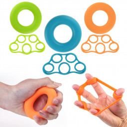 6 Packs Forearm Trainer Rings and Finger Resistance Bands Stretcher Set