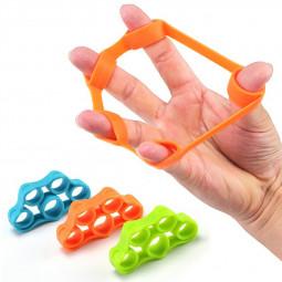 3 pcs Finger Stretcher Resistance Bands Finger Grip Hand Extensor Exerciser Elastic Recovery Trainer - Green+Blue+Orange
