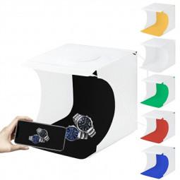 Small Light Photo Lighting Studio Shooting Tent Kits with 6 Colors Backdrops 2 LED Panels