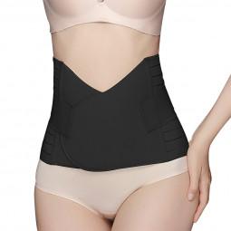 Postpartum Corset Recovery Tummy Belly Waist Support Belt Shaper - Black