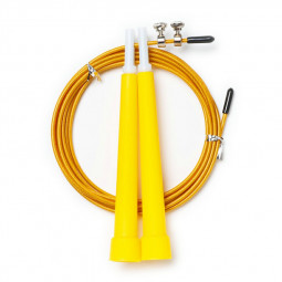 Plastic Skipping Rope Crossfit Steel Wire for Adult and Fitness Equipment - Yellow