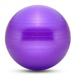 75cm Sports Fitness Yoga Ball Fitball Pilates Balance Gym Exercise Yoga Ball with Inflator - Purple