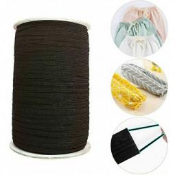 3mm Width Mask Earloop Cord Diy Jewelry Making Elastic Earring String Cord Masks - Black