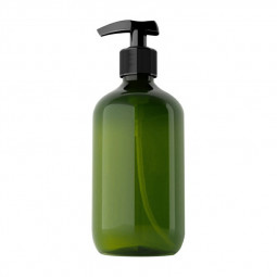 500ml Refillable Empty Bottle Clear Press Pump Plastic Bottle Shampoo Liquid Soap Dispenser - Green
