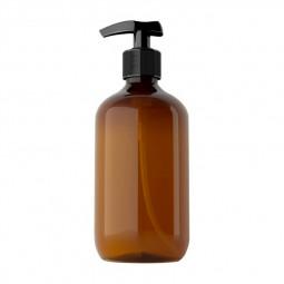 500ml Refillable Empty Bottle Clear Press Pump Plastic Bottle Shampoo Liquid Soap Dispenser - Brown