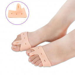1 Pair Valgus Orthosis Foot Care Bone and Thumb Orthosis Scaffold Toe Separator - Skin Color