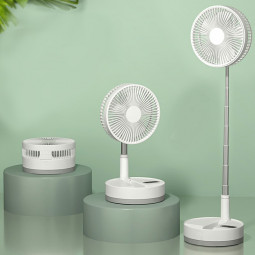 Foldable USB Rechargeable Air Cooler Humidifier Phone Holder - White