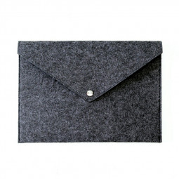A4 Document Bag Pad Business Briefcase File Folders Chemical Felt Filing Products - Dark Grey