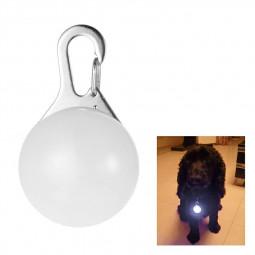1pcs Pet Collar Pendant LED Dog Collar Night Light Pendant - White