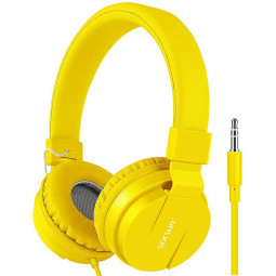 GS-778 Lightweight Stereo Foldable Wired Headphones Children Headset - Yellow