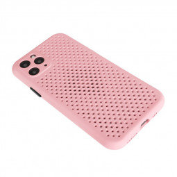 Silicone Shockproof Cover with Cooling Mesh for iPhone 11 Pro Max - Pink