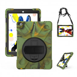 360 Degree Rotation Back Cover Shockproof Cases with Stand for Apple iPad 2019 10.2 - Camouflage