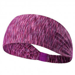 Elastic Sports Headband Sweatband Yoga Hairband - Purple