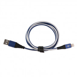 1m 8pin Charging Cable iPhone Braided Cable - Blue