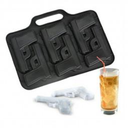 3D DIY Ice Cube Mold Maker Pistol Gun Bullet Grenade Shape