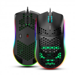 J900 6400dpi RGB Lighting Programmable Gaming Mouse -Black