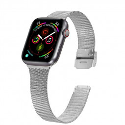 38mm/40mm Wristband Loop Replacement Band for iWatch Series 5/4/3/2/1 - Silver