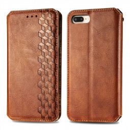 Magnetic PU Leather Wallet Case Cover for iPhone 7plus/8plus - Brown