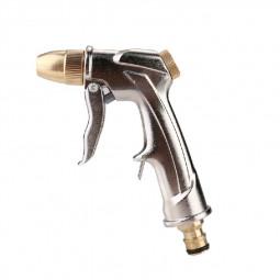 High Pressure Water Spray Gun Brass Nozzle Garden Hose Pipe Lawn Car Wash Pop