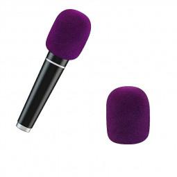 Pro vocalist Microphone Foam Cover Sponge Windshield Mic Shield - Purple