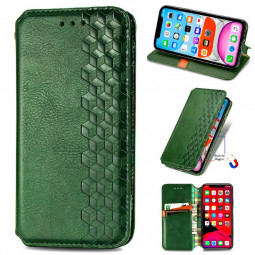 Magnetic PU Leather Wallet Case Cover for iPhone X/XS - Green
