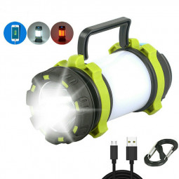 USB Rechargeable LED Camping Light Lantern Outdoor Hiking Tent Night Lamp Torch
