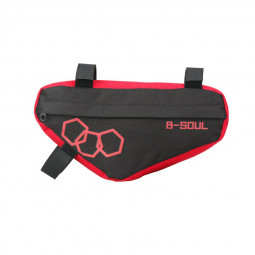 Waterproof Mountain Bike Triangle Bag Bicycle Frame Front Tube Bags Storage - Red