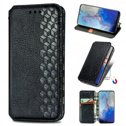 Magnetic PU Leather Wallet Case Cover for  Samsung Galaxy S20 - Black