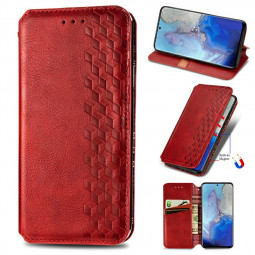 Magnetic PU Leather Wallet Case Cover for  Samsung Galaxy S20 Ultra - Red