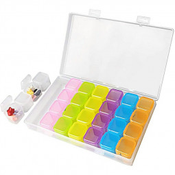 Adjustable Storage Box Nail Tools 28 Grid Box - Colorful