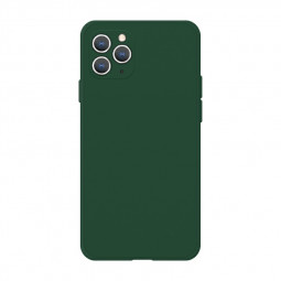 Soft Silicone Gel Shockproof Phone Cover Case for iPhone 11 Pro Max - Dark Green