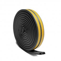 5M Self Adhesive Rubber Door Window Seal Strip Roll Tape D Type - Black