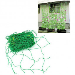 Trellis Garden Climbing Net Mesh Plant Support Plastic Green Bean Cucumber Ropes - 1.8m x 3.6m