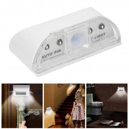 4 LED Light PIR Infrared Wireless Auto Sensor Motion Detector Door Keyhole Lamp - White