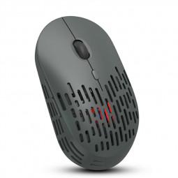 T38 2.4 G Wireless 4-Keys 1600 DPI Adjustable Ergonomics Optical Vertical Mouse - Grey
