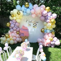 Latex Balloons Arch Kit Chrome Macaron Balloon Wedding Birthday Party Garland Decor