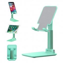 Foldable Upgraded Cell Phone Tablet Desktop Stand Holder - Green