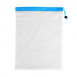 Reusable Mesh Produce Bag Set Mesh Shopping Bag Grocery Vegetable Storage Blue - Large