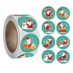 Merry Christmas Happy Xmas Labels Stickers Gift Craft Adhesive Box Sticker - Snow Sight