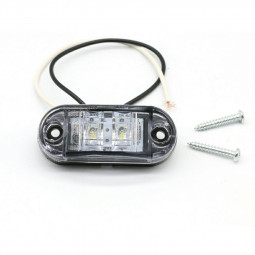 4 pcs LED Front Side Marker Indicator Light 12V 24V Car Truck Van Trailers Amber - White Light