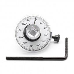 Adjustable Drive Torque Angle Gauge 360 Degree Measurer Auto Garage Tool