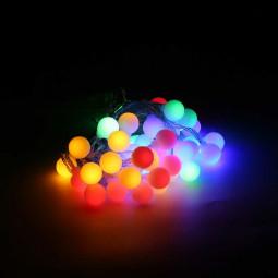 10m 80 LEDs Globe Bulb Ball Fairy String Lights Mains Plug In Garden Outdoor Indoor Xmas - Color Light