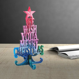 Christmas Tree Silicone Mould Merry Christmas Ornament Epoxy Arts Resin Mold - Christmas Tree Letters