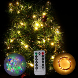 USB Plug In DIY Micro Copper Wire Fairy String Lights Home Xmas Coloured Light - 20m 200 LEDs