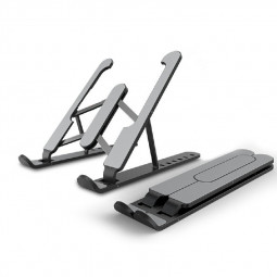 Adjustable Laptop Stand Support Home Office Table Tablet Top Non-slip Holder - Black