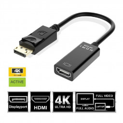 4K Display Port DP To HDMI Female Cable Adapter Converter DisplayPort for HD TV