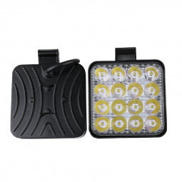 2pcs 48W LED Work Light Bar Flood Spot Lights Driving Lamp Offroad Car Truck SUV