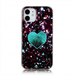 Shockproof Soft Silicone Rubber TPU Case for iPhone 12 Mini - Green Love