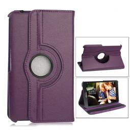360 Degree Rotating Flip Case for Samsung Galaxy T330 Tab4 8.0 - Purple